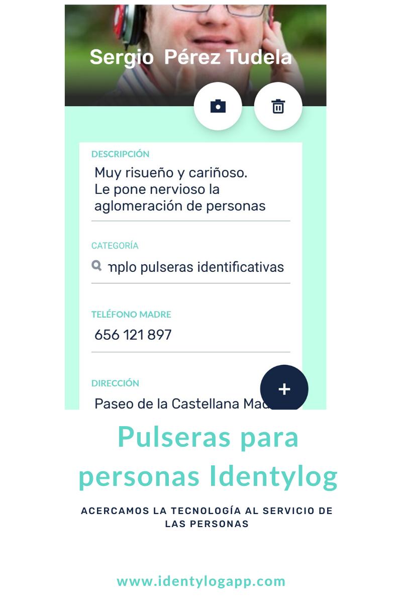 Pulseras identificativas para personas Identylog